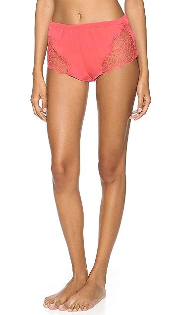 Fleur du Mal Leavers Lace Tap Shorts