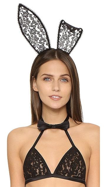 Fleur du Mal Fleur du Mal x Playboy Lace Bunny Ears