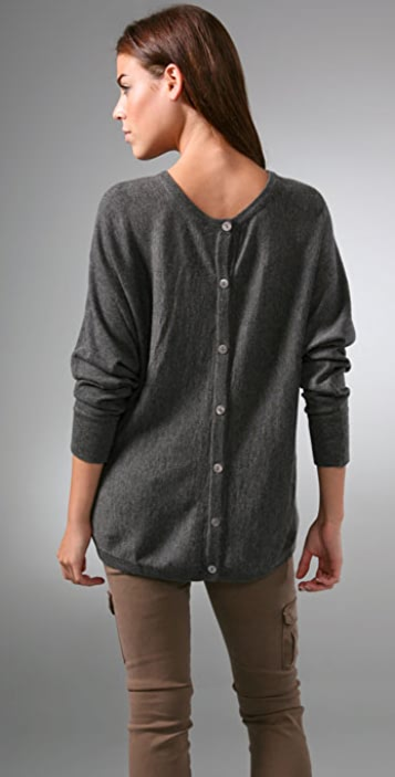 Feel The Piece Button Back Cashmere Sweater