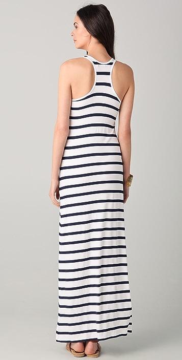 Feel The Piece Striped V Neck Maxi Dress