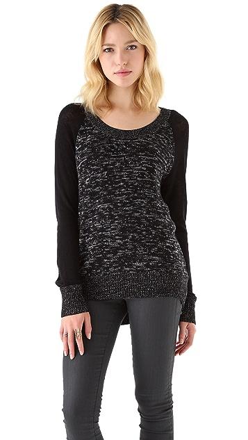 Feel The Piece Zip Back Raglan Sweater