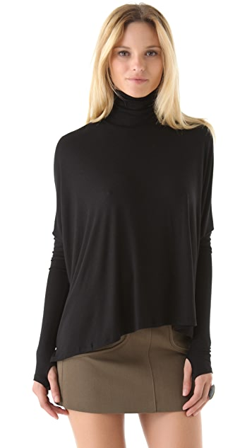 Feel The Piece Raven Turtleneck with Thumbholes