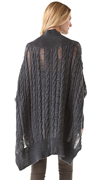 Feel The Piece V Neck Poncho
