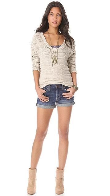 Feel The Piece Drop Stitch Tunic Sweater