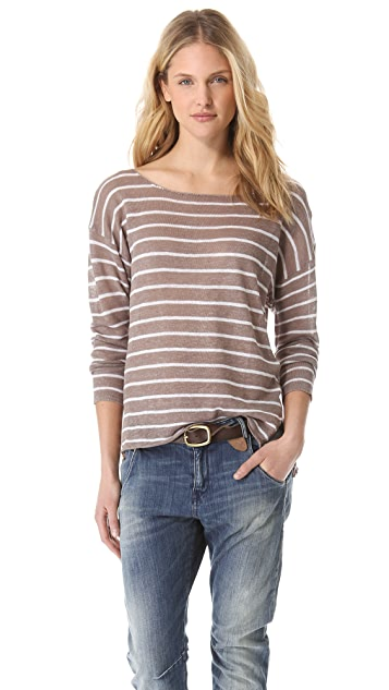 Feel The Piece Drop Shoulder Stripe Sweater