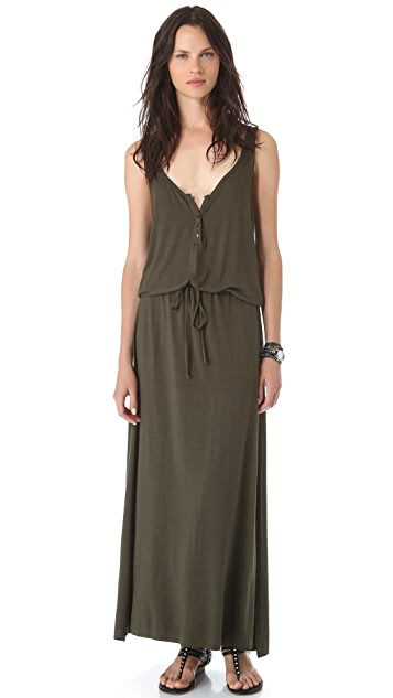 Feel The Piece Henley Maxi Dress