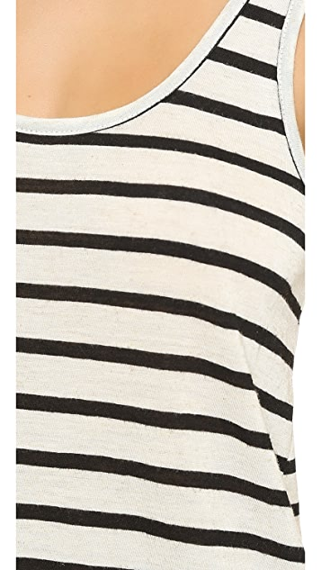 Feel The Piece Cropped Linen Stripe Sloan Tank
