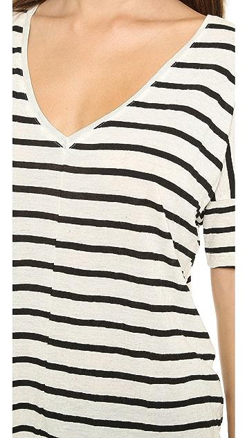 Feel The Piece Linen Stripe Tee