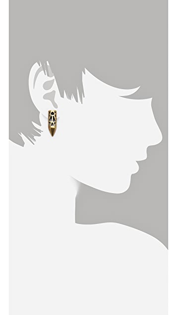 FELIKS+ADRIK Cutout Python Earrings