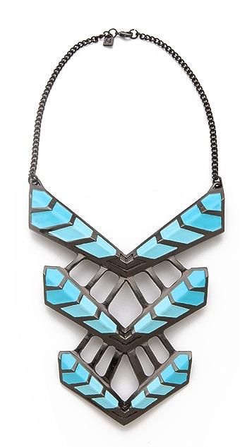 FELIKS+ADRIK Enamel Turritella Chest Plate Necklace