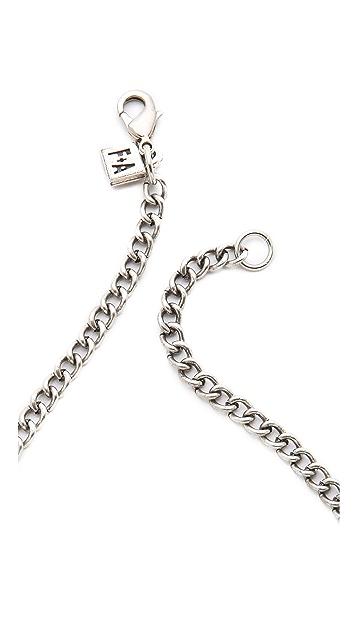 FELIKS+ADRIK Cutout Turritella Plate Necklace