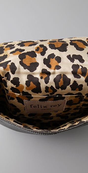 Felix Rey Nicole Clutch with Snake Trim