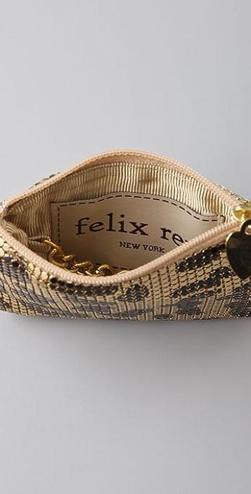 Felix Rey Leopard Mesh Key Pouch