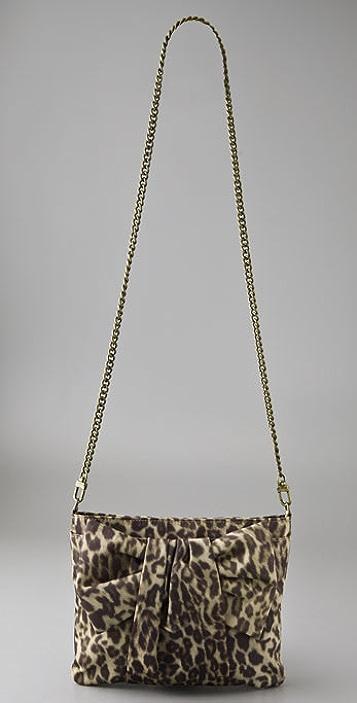 Felix Rey Leopard Bow Mini Messenger Bag