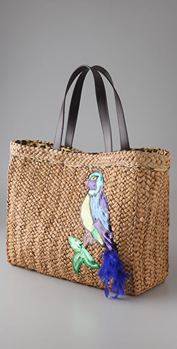 Felix Rey Birds of a Feather Basket Tote