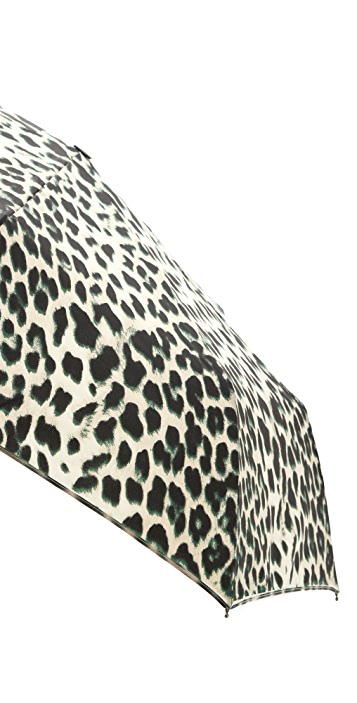 Felix Rey Leopard Print Folding Umbrella