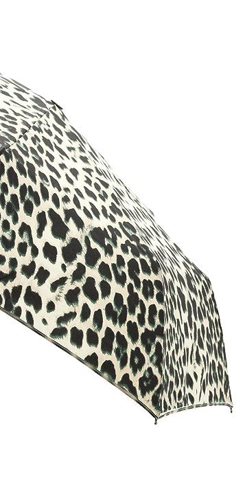 Felix Rey Leopard Print Folding Umbrella