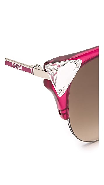 Fendi Crystal Corner Sunglasses