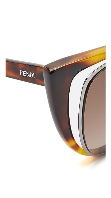 Fendi Cutout Cat Eye Sunglasses