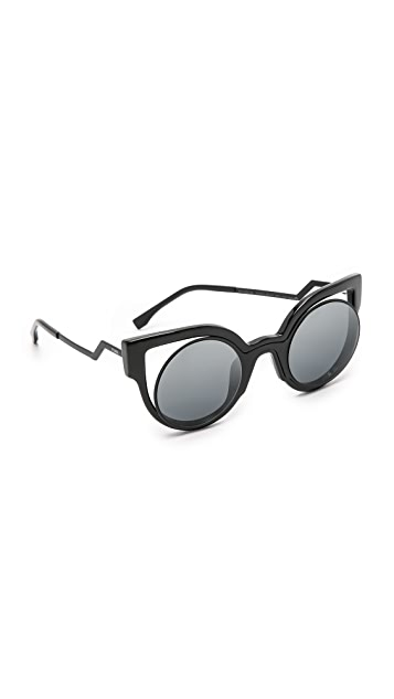Fendi Round Cutout Sunglasses