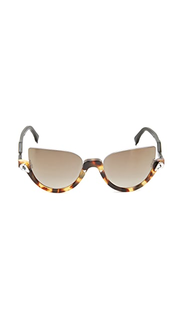 Fendi Demi Crystal Sunglasses