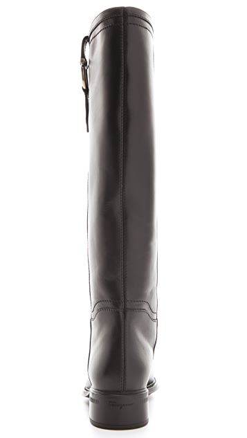 Salvatore Ferragamo Fersea Knee High Riding Boots
