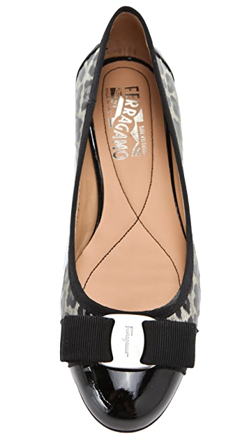 Salvatore Ferragamo Tuma Colorblock Flats with Bow