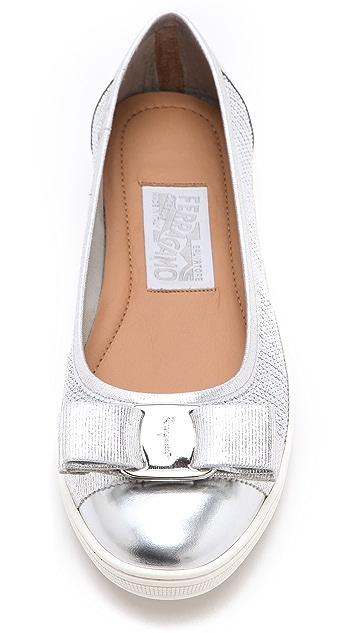 Salvatore Ferragamo Scarlet Ballet Sneakers