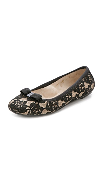 Salvatore Ferragamo My Belle Lace Flats