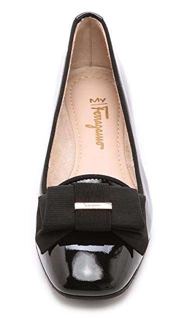 Salvatore Ferragamo My Muse Bow Flats