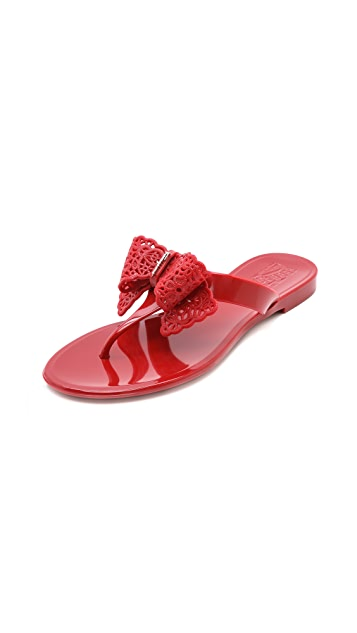 a1fe5e6e60616 Salvatore Ferragamo Pandy Jelly Thong Sandals