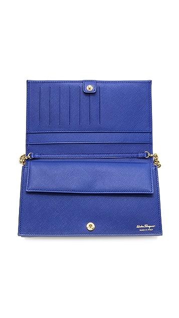 Salvatore Ferragamo Miss Vara Bow Chain Wallet / Bag