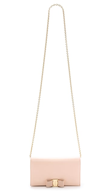 Salvatore Ferragamo Miss Vara Bow Wallet on a Chain