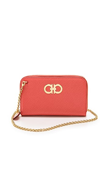 Salvatore Ferragamo Mini Gancini Wallet on a Chain
