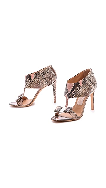 Salvatore Ferragamo Pellas Studded T Strap Sandals