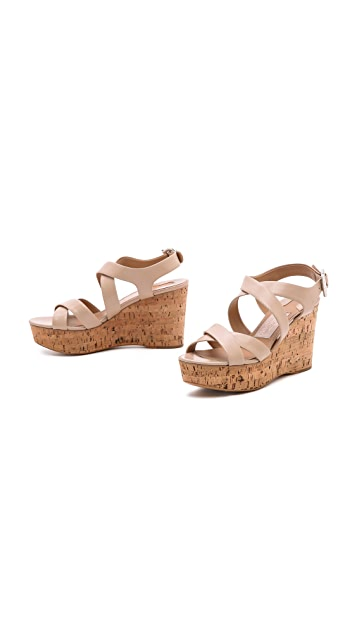 Salvatore Ferragamo Persy Cork Wedge Sandals