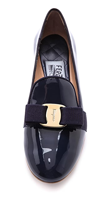 Salvatore Ferragamo Scotty Smoking Flats