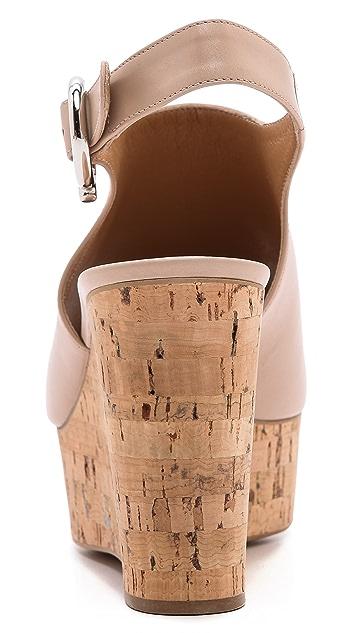 Salvatore Ferragamo Puebla Slingback Wedge Sandals