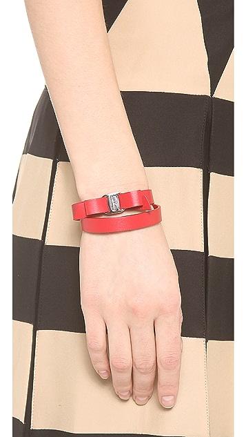 Salvatore Ferragamo Vara Bow Double Wrap Bracelet
