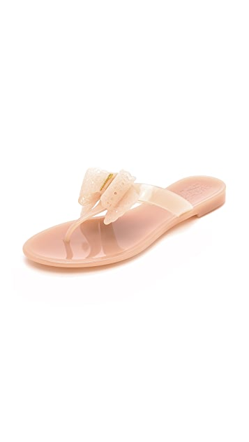 Salvatore Ferragamo Pandy Jelly Flip Flops