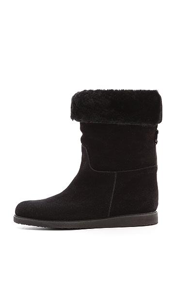 Salvatore Ferragamo My Ease Shearling Boots