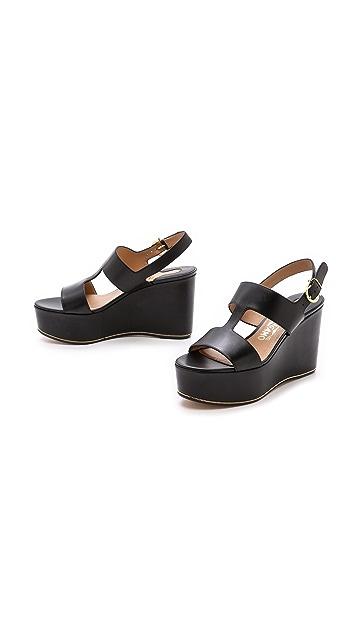 Salvatore Ferragamo Fiamma Wedge Sandals