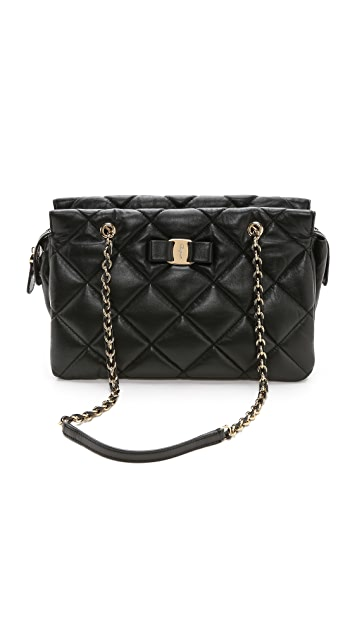 a30dbcda851d Salvatore Ferragamo Ginette Quilted Shoulder Bag