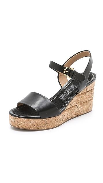a1bb195ac37 Salvatore Ferragamo Madea Wedge Sandals