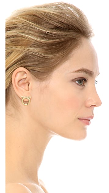 Salvatore Ferragamo Orecchini Piume Earrings