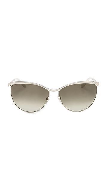 Salvatore Ferragamo Top Accent Metal Sunglasses