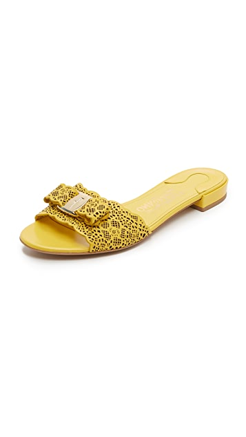 Salvatore Ferragamo Laser-Cut Jelly Sandals with credit card online cfHybQbO8