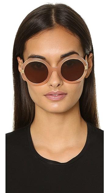 Salvatore Ferragamo Gancino Round Sunglasses