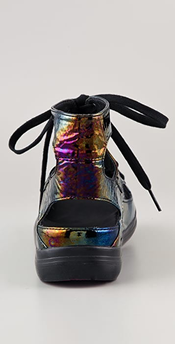 FitFlop Gladda Iridescent Cutout Sneakers