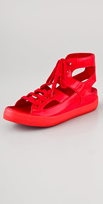 FitFlop Gladda Patent Cutout Sneakers